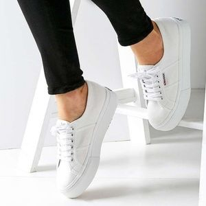 Superga | White Platform Sneakers